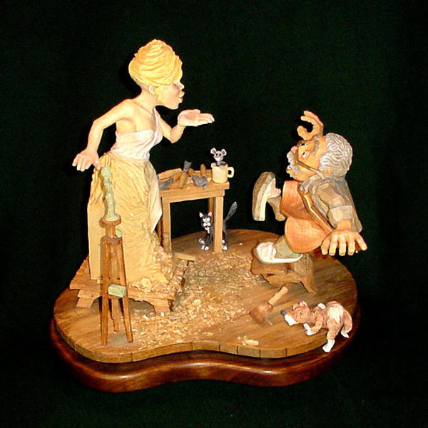 History of caricature carving from little shavers
